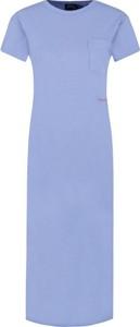 Niebieska sukienka POLO RALPH LAUREN midi