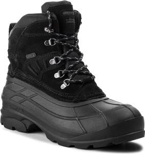 Czarne buty zimowe Kamik w militarnym stylu