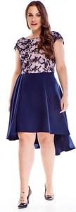 Sukienka TAGLESS z okrągłym dekoltem asymetryczna