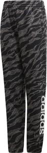 Czarne spodnie dziecięce Adidas z plaru
