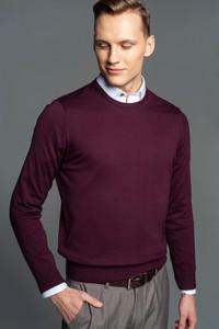 Sweter Recman z okrągłym dekoltem w stylu casual