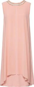 Różowa sukienka bonprix BODYFLIRT boutique midi