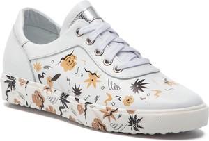 Sneakersy Ann-Mex sznurowane na koturnie