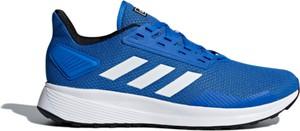 Niebieskie buty sportowe Adidas sznurowane duramo