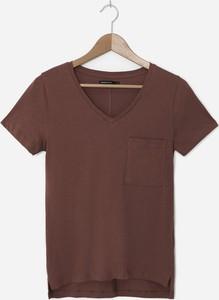 T-shirt House w stylu casual z krótkim rękawem z dekoltem w kształcie litery v