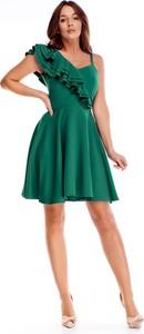 Sukienka Ptakmoda.com mini rozkloszowana z krótkim rękawem