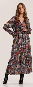 Niebieska sukienka Renee maxi z długim rękawem w stylu boho