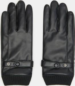 Czarne rękawiczki Sinsay