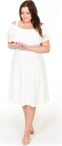 Sukienka By 20inlove z krótkim rękawem dla puszystych