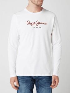Koszulka z długim rękawem Pepe Jeans z bawełny z długim rękawem z nadrukiem