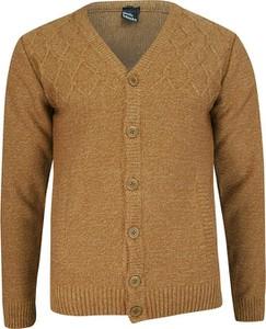 Brązowy sweter Lasota w stylu casual