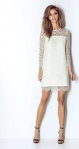 Sukienka Wow Fashion z długim rękawem z okrągłym dekoltem
