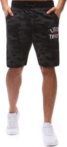 Dstreet spodenki dresowe męskie czarne (sx0570)
