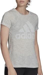 Bluzka Adidas z bawełny w sportowym stylu z okrągłym dekoltem
