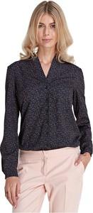 Czarna bluzka Colett z dekoltem w kształcie litery v w stylu casual