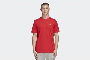 Czerwony t-shirt Adidas Originals