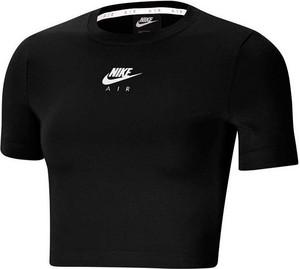Czarny t-shirt Nike w sportowym stylu z okrągłym dekoltem
