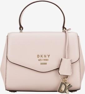 Torebka DKNY do ręki ze skóry średnia