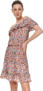 Sukienka Top Secret mini z krótkim rękawem koszulowa