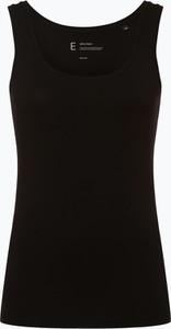 Czarny top Opus z dżerseju z okrągłym dekoltem w stylu casual