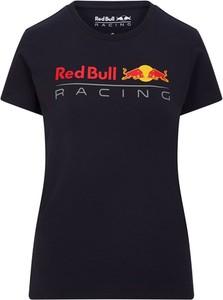 Czarna bluzka Red Bull Racing F1 Team z krótkim rękawem