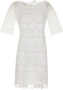 Sukienka poza.pl z okrągłym dekoltem z bawełny