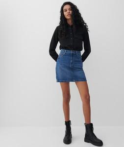 Granatowa spódnica Reserved w stylu casual mini