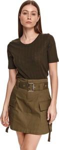 Bluzka Top Secret z okrągłym dekoltem w stylu casual