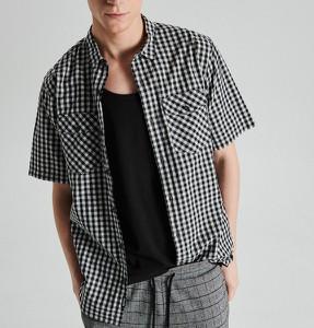 cd2d86a523891b Szare koszule męskie w kratę Cropp, kolekcja wiosna 2019