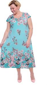 Sukienka modneduzerozmiary.pl midi z okrągłym dekoltem