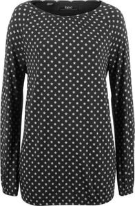 Czarny t-shirt bonprix bpc bonprix collection z długim rękawem