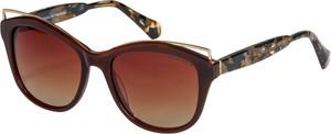 Brązowe okulary damskie Vermari