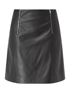 Czarna spódnica Hugo Boss ze skóry ekologicznej