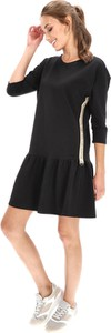 Czarna sukienka Eye For Fashion z tkaniny z okrągłym dekoltem mini