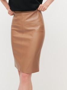 Brązowa spódnica Reserved w stylu casual