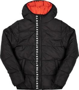 Czarna kurtka dziecięca DKNY