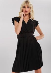 Czarna sukienka Renee w stylu casual mini bez rękawów