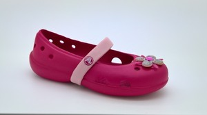 Bordowe balerinki crocs
