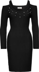 Czarna sukienka bonprix bodyflirt boutique w street stylu z dzianiny midi