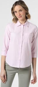 Różowa bluzka Marie Lund z kołnierzykiem z bawełny