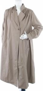 Brązowy płaszcz Humility w stylu casual