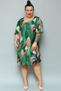 Sukienka KARKO w stylu casual midi z tkaniny