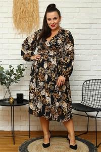 Sukienka KARKO midi z tkaniny kopertowa