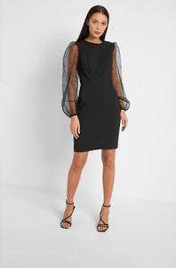 Czarna sukienka ORSAY mini z okrągłym dekoltem