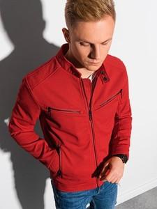 Czerwona kurtka Ombre w stylu casual