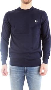 Sweter Fred Perry z dżerseju w stylu casual z okrągłym dekoltem