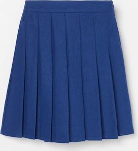 Granatowa spódnica Reserved z wełny w stylu casual
