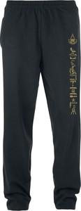 Spodnie sportowe Emp z dresówki z nadrukiem