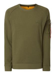 Zielona bluza Alpha Industries w sportowym stylu z dzianiny