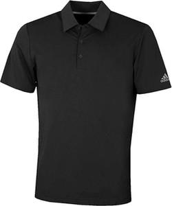 Czarny t-shirt Adidas Performance w sportowym stylu z krótkim rękawem